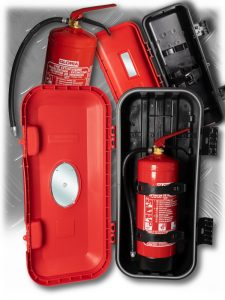 Our fire extinguisher boxes and fire extinguishers